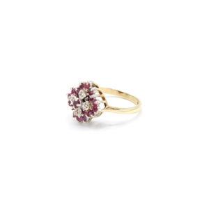 Robijn diamant ring