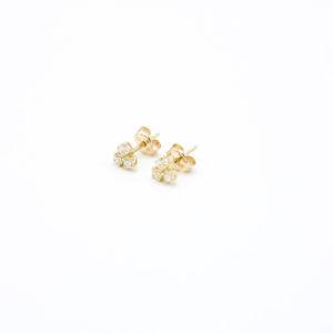 Leuke gouden oorknopjes met zirkonia