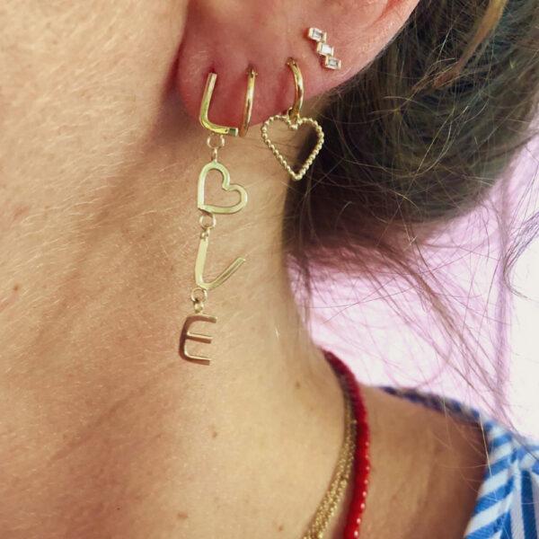LOVE oorbel