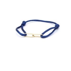 Stoere schakel armband goud