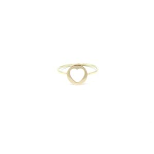 mooie hart ring goud