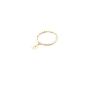 gouden initiaal ring