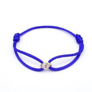 Mooie drie kleuren goud armband