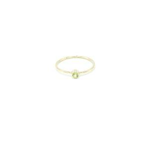 Mooie gouden ring met Peridoot