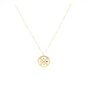 Mooie munt ketting 14 karaat goud initialen
