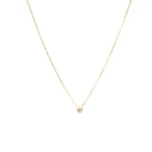 Mooi goud collier met diamantje