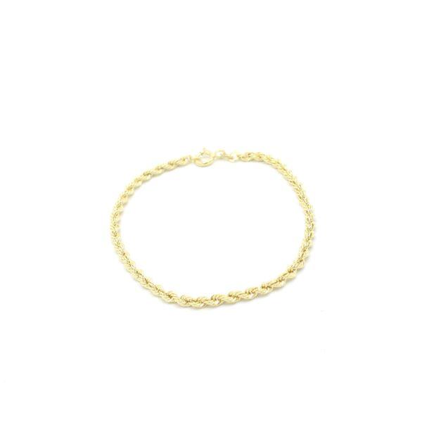 mooie Twist armband goud